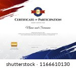 certificate template in rugby... | Shutterstock .eps vector #1166610130