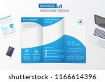 business brochure design. flyer ... | Shutterstock .eps vector #1166614396