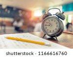 test examination in education...   Shutterstock . vector #1166616760