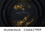 black paper cut background.... | Shutterstock .eps vector #1166617909