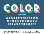 3d display font design ... | Shutterstock .eps vector #1166622289