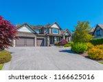 big custom made luxury house...   Shutterstock . vector #1166625016