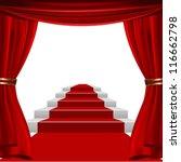 red curtain design | Shutterstock .eps vector #116662798