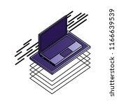 laptop computer isometric...
