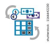 foreign exchange calculator... | Shutterstock .eps vector #1166642230
