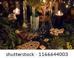 alchemy still life with glass... | Shutterstock . vector #1166644003