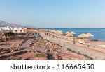 view of the beach with...   Shutterstock . vector #116665450