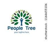people tree vector logo... | Shutterstock .eps vector #1166655106