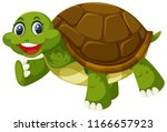a turtle on white background... | Shutterstock .eps vector #1166657923