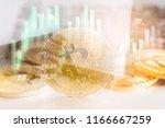 modern way of exchange. bitcoin ... | Shutterstock . vector #1166667259