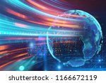 3d rendering of  earth on hi... | Shutterstock . vector #1166672119