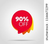 special offer sale red tag... | Shutterstock . vector #1166672299