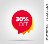 special offer sale red tag... | Shutterstock . vector #1166672326