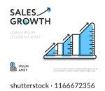 design of sales increase... | Shutterstock . vector #1166672356