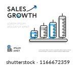 creative flat design of sales... | Shutterstock . vector #1166672359