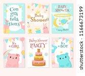 baby shower invitation greeting ... | Shutterstock .eps vector #1166673199