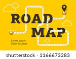 road map business concept with... | Shutterstock . vector #1166673283