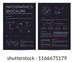 financial brochure with various ... | Shutterstock . vector #1166675179