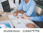 confident business leader ... | Shutterstock . vector #1166679796