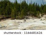 an extinct geyser cone in...   Shutterstock . vector #1166681626
