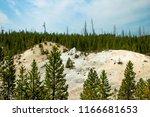 an extinct geyser cone in...   Shutterstock . vector #1166681653