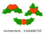 holly xmas isolated icon.... | Shutterstock .eps vector #1166686720
