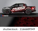 truck wrap design vector.... | Shutterstock .eps vector #1166689549
