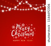 christmas background with shiny ... | Shutterstock .eps vector #1166692306