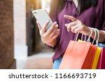consumerism  shopping ... | Shutterstock . vector #1166693719