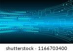 binary circuit board future... | Shutterstock .eps vector #1166703400