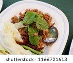 fried pork ribs.   Shutterstock . vector #1166721613
