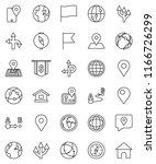 thin line vector icon set  ... | Shutterstock .eps vector #1166726299