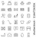 thin line vector icon set  ... | Shutterstock .eps vector #1166726326