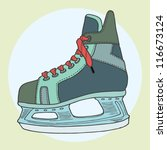 vector of hockey skate. | Shutterstock .eps vector #116673124