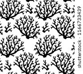 seamless pattern with black... | Shutterstock .eps vector #1166733439