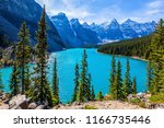 lake moraine with water of... | Shutterstock . vector #1166735446
