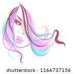vector stylish original hand... | Shutterstock .eps vector #1166737156