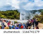 valley of geysers rotorou  new...   Shutterstock . vector #1166741179