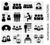 office people icons set. | Shutterstock .eps vector #116674390