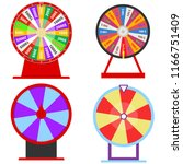 a wheel of fortune  a set of... | Shutterstock .eps vector #1166751409
