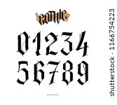 the numbers are in the gothic... | Shutterstock .eps vector #1166754223