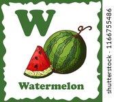vector fruit alphabet for... | Shutterstock .eps vector #1166755486