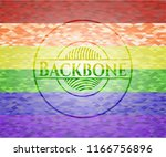 backbone on mosaic background... | Shutterstock .eps vector #1166756896