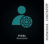 assistance   pixel icon. vector ... | Shutterstock .eps vector #1166762539