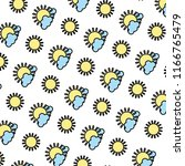 color sun with spring weather... | Shutterstock .eps vector #1166765479