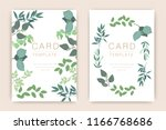 wedding card template with... | Shutterstock .eps vector #1166768686