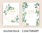 wedding card template with... | Shutterstock .eps vector #1166768689