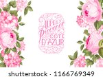 the rose elegant card with... | Shutterstock .eps vector #1166769349