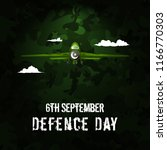6th september. happy defence... | Shutterstock .eps vector #1166770303