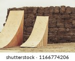 two big wooden ramps for big... | Shutterstock . vector #1166774206